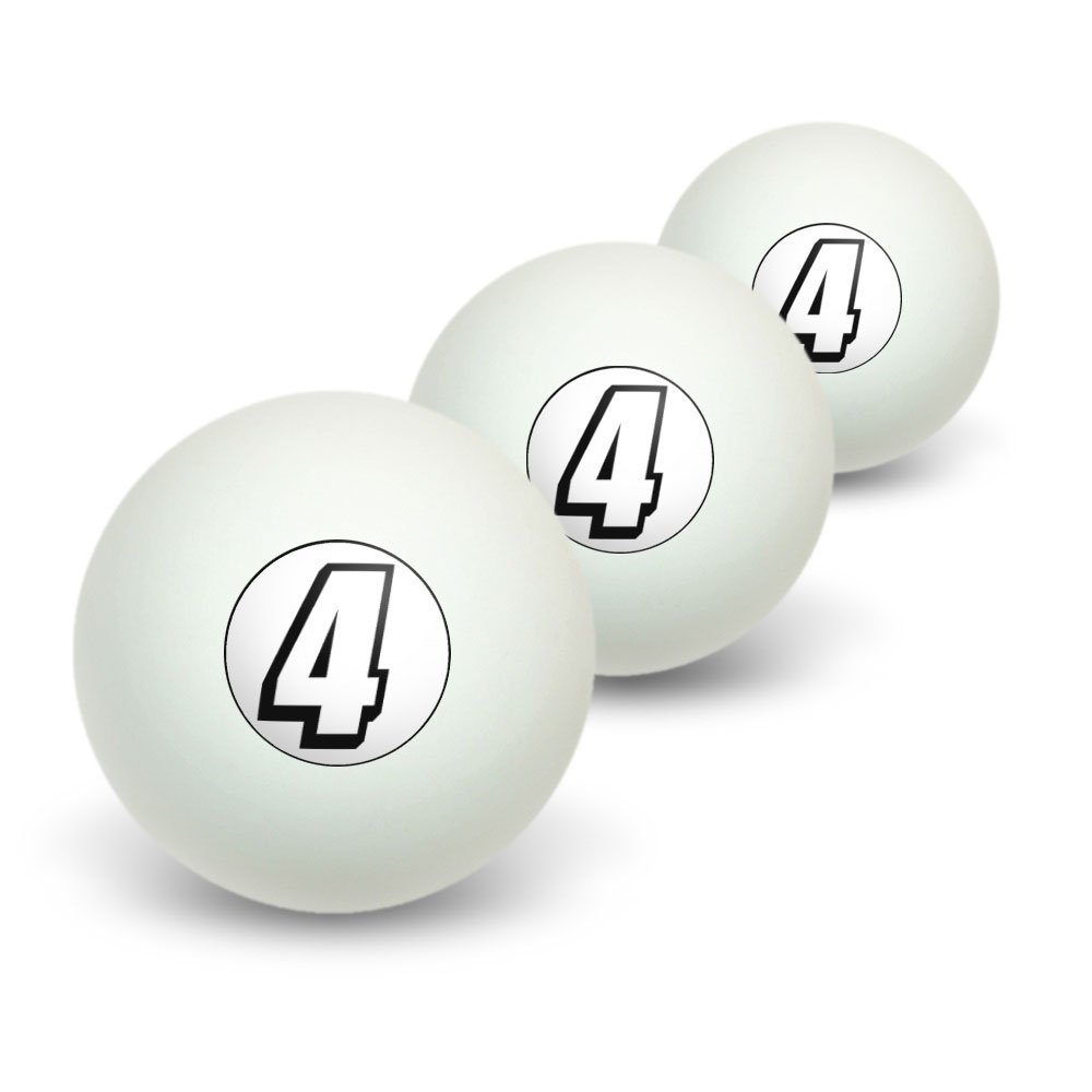 4 Number Four Novelty Table Tennis Ping Pong Ball 3 Pack джемпер lacoste lacoste la038emvvo84