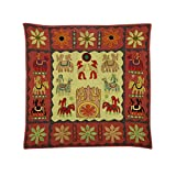 Rajrang Home Décor Embroidered Patch Work Olive Green Wall Hanging - B00TQRLR0K