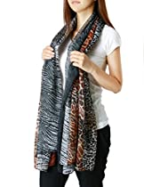 FandS - Dynamic Leopard Fashion Scarf | One Size | Brown Color