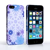 Caseflex iPhone 5 / 5s Case Purple / Blue Winter Christmas Snowflake Hard Cover