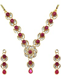 Kundans Necklaces Set Jewellery Sets In Offer Bridal Kundan Necklace Set BANE0322RA