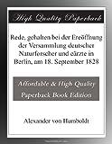Rede, gehalten bei der Ereöffnung der Versammlung deutscher Naturforscher und eärzte in Berlin, am 18  September 1828 (German Edition)