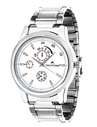 Swisstone White Dial Stainless Steel Chain Analog Watch For Men/Boys- ST-GR006-WHT-CH