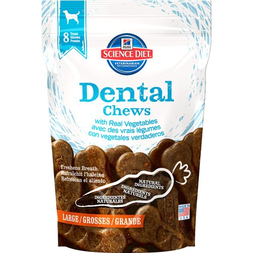 Hills Science Diet Dental Chews with Real Vegetables Large Dog Food, 12-Ounce Pouch