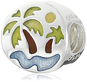 Chamilia Sterling Silver Oasis with Jonquil Swarovski Crystal Bead Charm