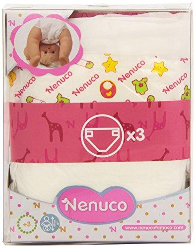 Nenuco - Set de 3 pañales para muñecos (Famosa 700011304)
