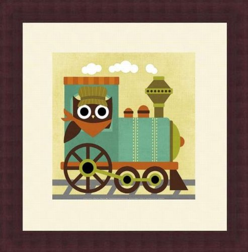 Barewalls Wall Decor by Nancy Lee, Owl Train Conductor