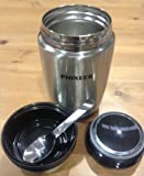 Pioneer 0.58L Stainless Food Flask And Folding Spoon (Easily Holds a Full Tin of Soup)