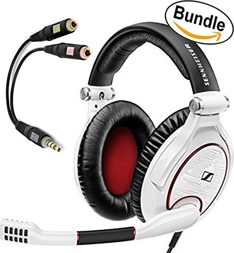 Sennheiser-GAME-ZERO-PC-Gaming-Headphone-506064-White-Sennheiser-PCV-05-Combo-Audio-Adapter-Bundle