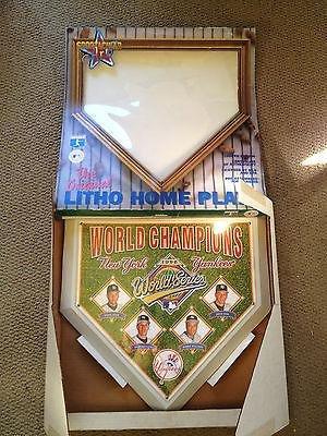 4512e63b4 1996 World Series New York Yankees Litho Home Plate Sportacular Art ...