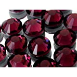 25 Colours 4 Sizes, EIMASS® Hot Fix Flat Back Rhinestones, Glass Diamantes, Crystals, Gems, Pack of 1440 Crystals