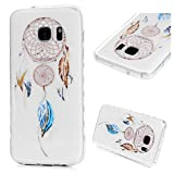 YOKIRIN-Samsung-Galaxy-S7-Case-3-PACK-Printing-Series-Slim-Fit-Ultra-Thin-Anti-slip-Shock-absorption-Premuim-Flexible-Soft-TPU-Case-with-Colorful-Clearr-Transparent-Cover-Skin-Shell