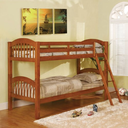 Coney island oak finish twin size bunk bed best deals toys Best deal on twin mattress