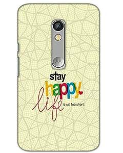 Hugo Motorola Moto X Play Back Cover Hard Case Printed Designer Multicolour