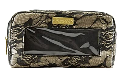 PurseN Nude and Black Lace Classic Make-up Organizer Bag