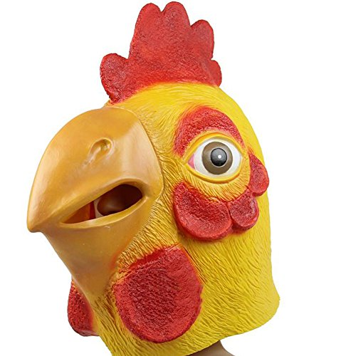 [ALICE-X&S Halloween Chanticleer Bird Animal Head Mask Party Costume Decorations (Yellow)] (Parrot Costume Female)