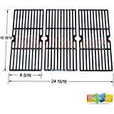 bbq factory JGX123 Replacement Porcelain coated Cast Iron Cooking Grid Set of 3 for Select Gas Grill Models By Charbroil, Centro, Broil King , Kenmore, Costco, K Mart , Master Chef and Others