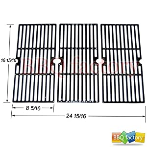 66123 Porcelain Cast Iron Cooking Grid Grate Replacement for Select Gas Grill Models by... by bbq factory