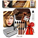 Belloccio's Complete Professional Airbrush Cosmetic Makeup System with a TAN Shade Airbrush Makeup Foundation Set