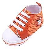EOZY Zapatos Para Beb� Unisex Primero Paso Andar Mallas Naranja Cordones Oto�o Pirmavera Longitud 12cm