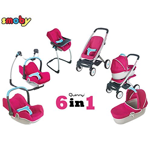 Smoby - Quinny 6-in-1 Multifunktions-Puppenwagen
