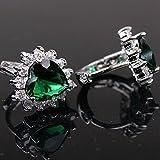 (Dream4girls)sparkling Plated 925 Sterling Silver Emerald Womens Earrings Hoop Earring Ladies Jewelry