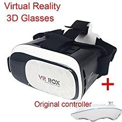 Newest 3D VR Box, With Bluetooth Controller, Virtual Reality Headset Version 2.0 . 3D Glasses Adjust Cardboard VR BOX For 3.5~6.0