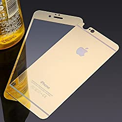 Electroplated Mirror Front + Back Tempered Glass Screen Protector for Apple Iphone 6 6S - GOLD