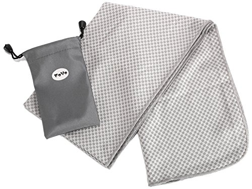 FoVo Cooling Towel Gray Bamboo Charcoal Fiber 100% (2004 Gmc Sierra 2500hd Radiator compare prices)