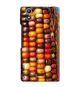 Omnam Colorful Sweet Corn Bhutta Printed Designer Back Cover Case For Micromax Selfie 2 Q340