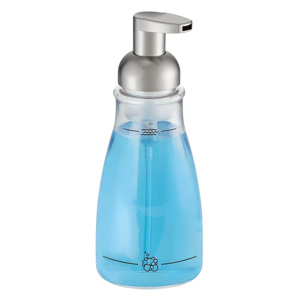 InterDesign - Bomba dosificadora de jabón espuma, Claro/Níquel pulido   más información y revisión