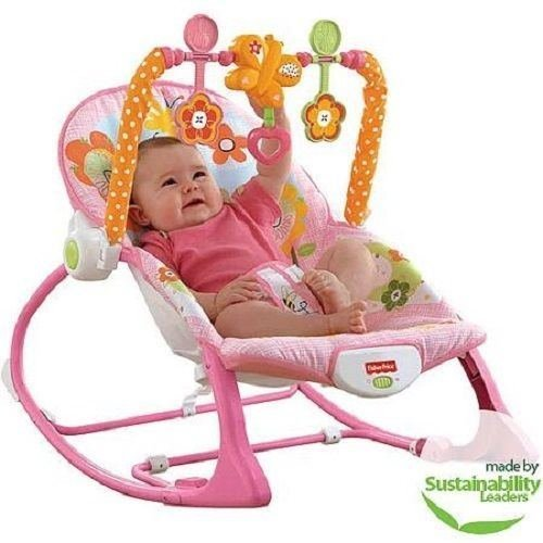 Fisher-price Infant-to-toddler Rocker Sleeper, Pink Bunny Pattern Grow-with-baby