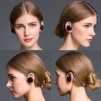 iansean Bluetooth Headphones Muset1s wireless Bluetooth 4.0 Sports Sweatproof Invisible Over-ear with Mic Stereo Headset Earbuds handsfree