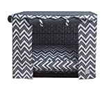 BowhausNYC Fair Isle Crate Cover, Dark Gray/White