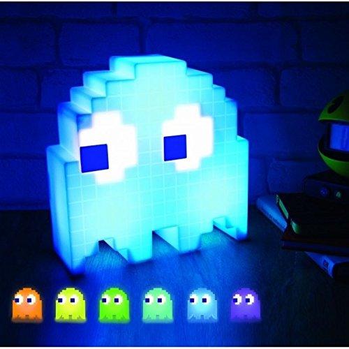 Pac-Man Dekolampe mit 16 Farben - PacMan Dekolicht Pac Man Deko Licht Musiklicht Stimmungslicht mit 16 Farben - Standlicht