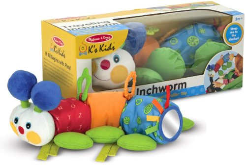 K's Kids Traveling Inchworm Stroller Toy + FREE Melissa & Doug Scratch Art Mini-Pad Bundle [91879]