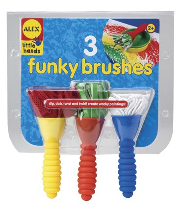 3 Funky Brushes - Buy 3 Funky Brushes - Purchase 3 Funky Brushes (Alex, Toys & Games,Categories,Arts & Crafts,Paintbrushes)