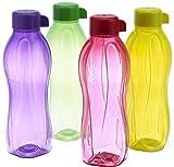 Tupperware LYSB00MJNTD3G-SPRTSEQIP Aqua Safe Water Bottles (Set of 4)1L (Multicolor)