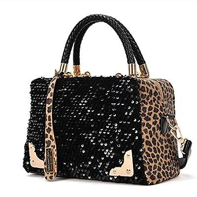 Culater® Femmes Sequin Chic Leopard Messenger Croix sac à main Sac à main