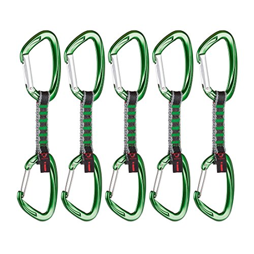 Mammut-Express-Set-5er-Pack-Crag-Indicator-Wire-Straight-GateBent-Gate-Green-10-cm-2210-01400-3240-10