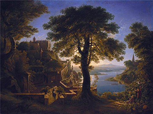The Perfect effect canvas of oil painting 'Karl Friedrich Schinkel Schloss am Strom ' ,size: 8 x 11 inch / 20 x 27 cm ,this Imitations Art DecorativeCanvas Prints is fit for Kitchen artwork and Home artwork and Gifts (Pan Am Badge compare prices)