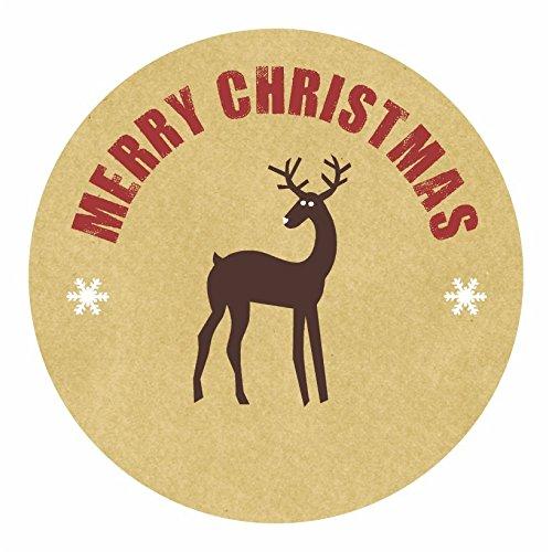 Personalised Christmas Labels - Reindeer-AMZ