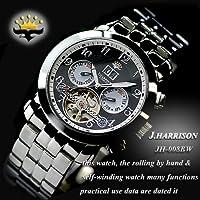 J HARRISON 【ジョン ハリソン】 ビッグデート付 手巻付自動巻 腕時計 JH-008BW