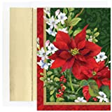 Poinsettia Floral Christmas Cards