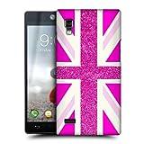 Head Case Designs Fashion Fuchsia Glitter Union Jack Collection Hard Back Case Cover for LG Optimus L9 P760 P765 P768