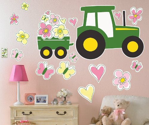 Birthday Express - John Deere Pink Giant Wall Decals