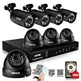 ZOSI 8-Channel 2D1 6CIF Security Surveillance System CCTV Kits with 8...