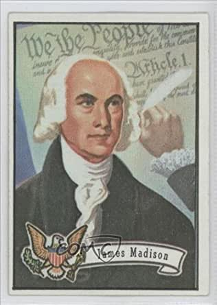 James madison trading card 1972 topps u s presidents 4 for James madison pets