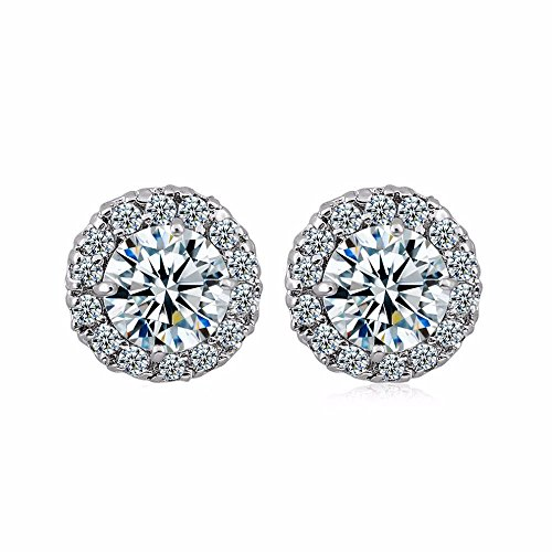 GULICX Silver Tone Fashion Women Lady Elegant Crystal Rhinestone Ear Stud Earrings (Vintage Rhinestone Earrings compare prices)