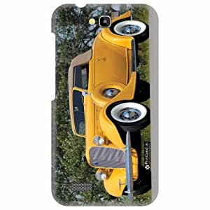 Printland Designer Back Cover for Honor Holly Hol-U19 - Yellow Car Case Cover